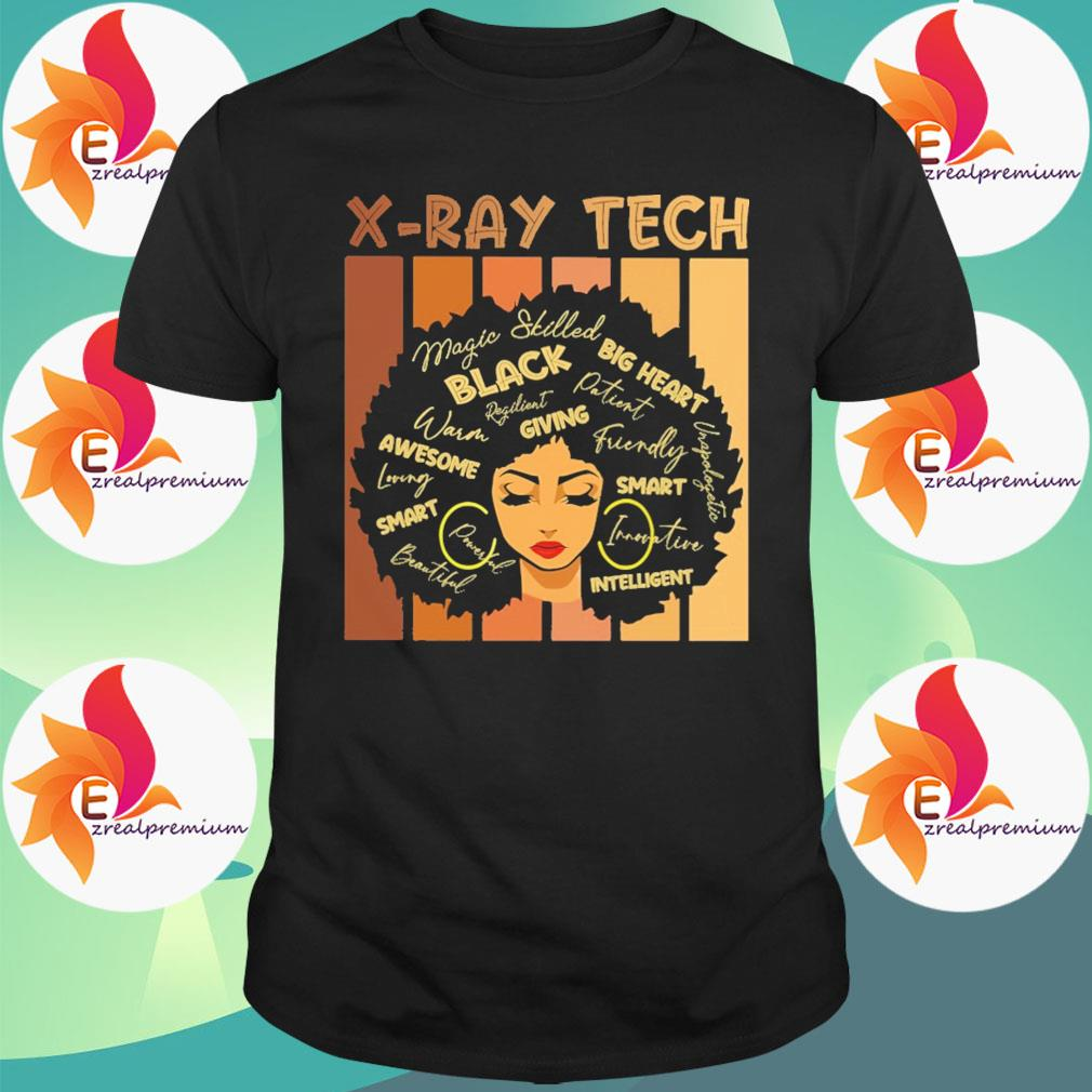 Black Woman X-Ray Tech Black Big Heart giving awesome smart intelligent shirt