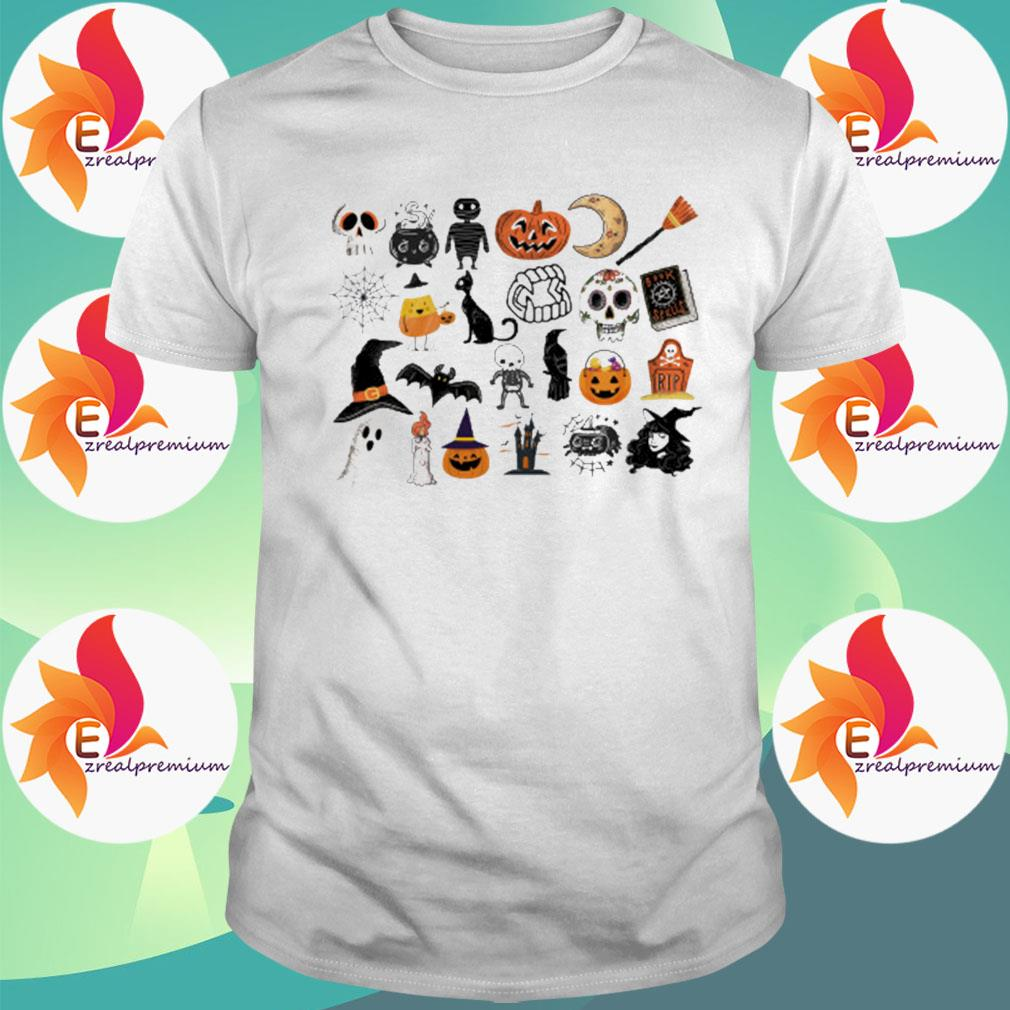 Official It's The Little Things Happy Halloween 2021 Tee Shirt Masswerks Store