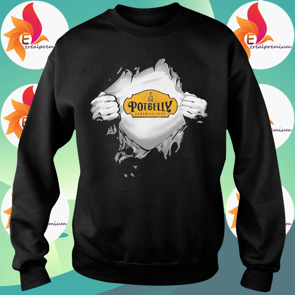 Blood in side me Potbelly s Sweatshirt