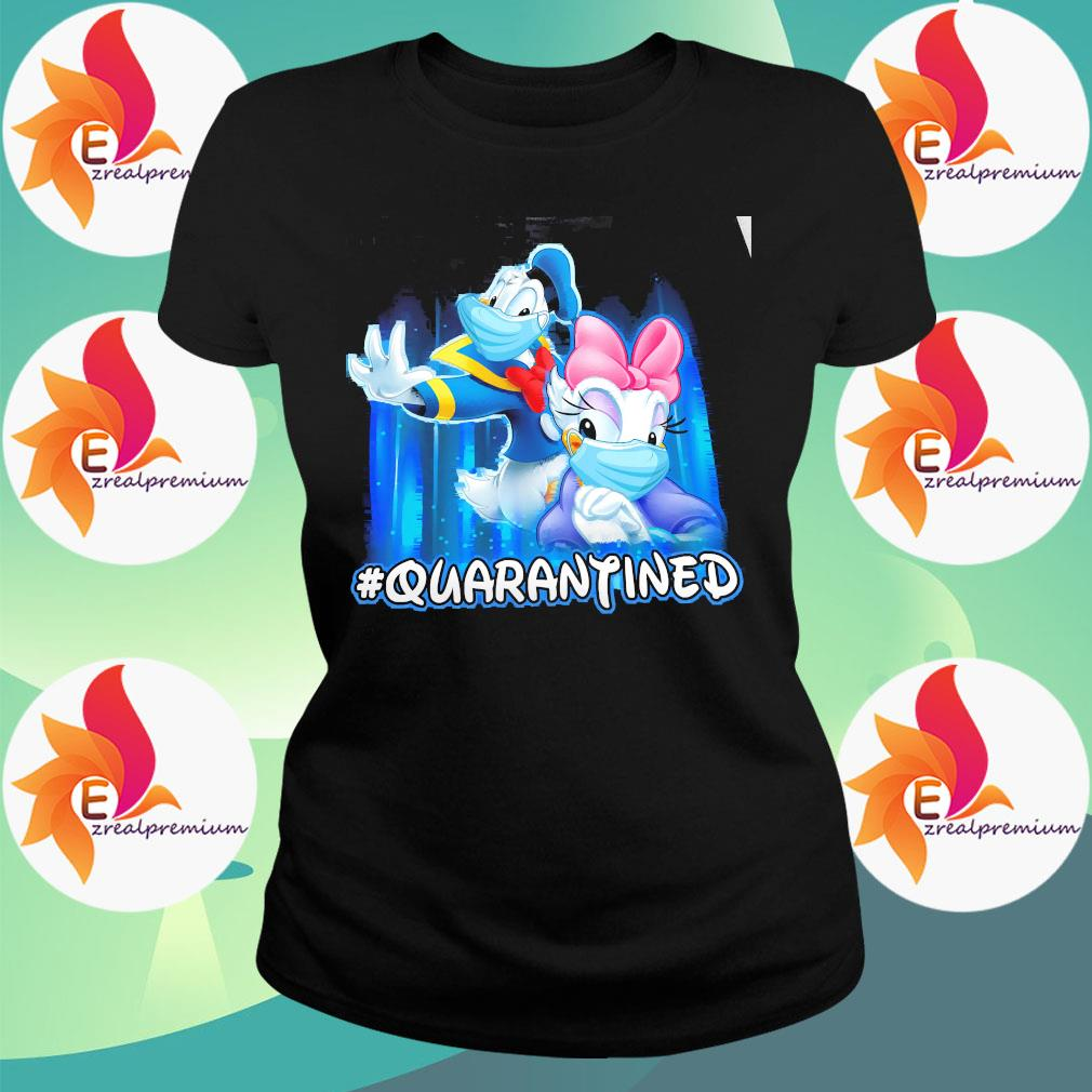 Donald And Daisy Face Mask Quarantined Shirt Ladytee