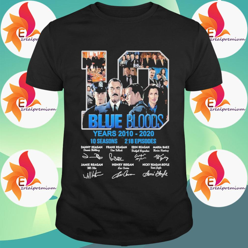 10 Blue Bloods years 2010-2020 10seasons 218 Episodes signatures shirt
