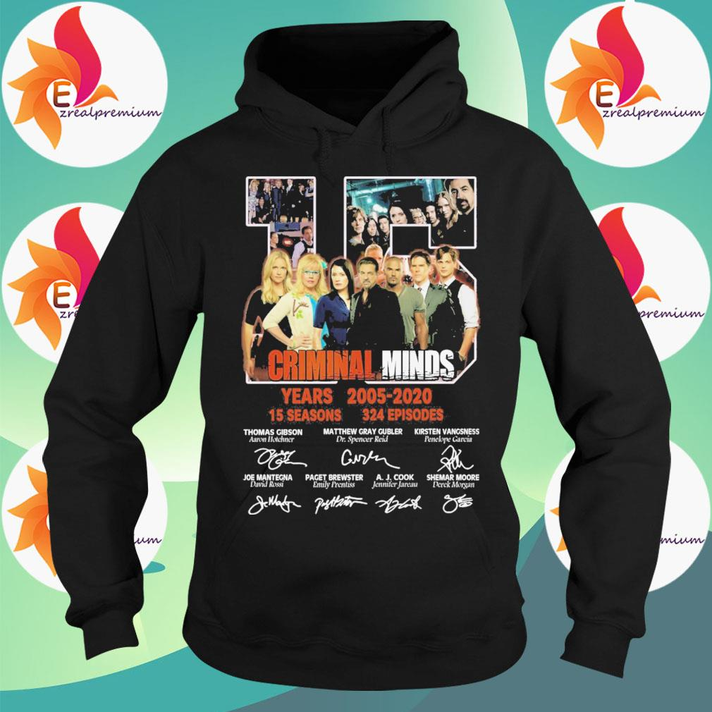 15 Criminal Minds years 2005 2020 15 seasons 324 episodes character signatures s Hoodie