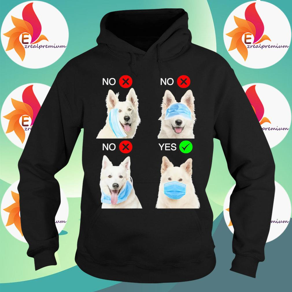 Berger Blanc Suisse Dogs Right Way To Wear Mask s Hoodie