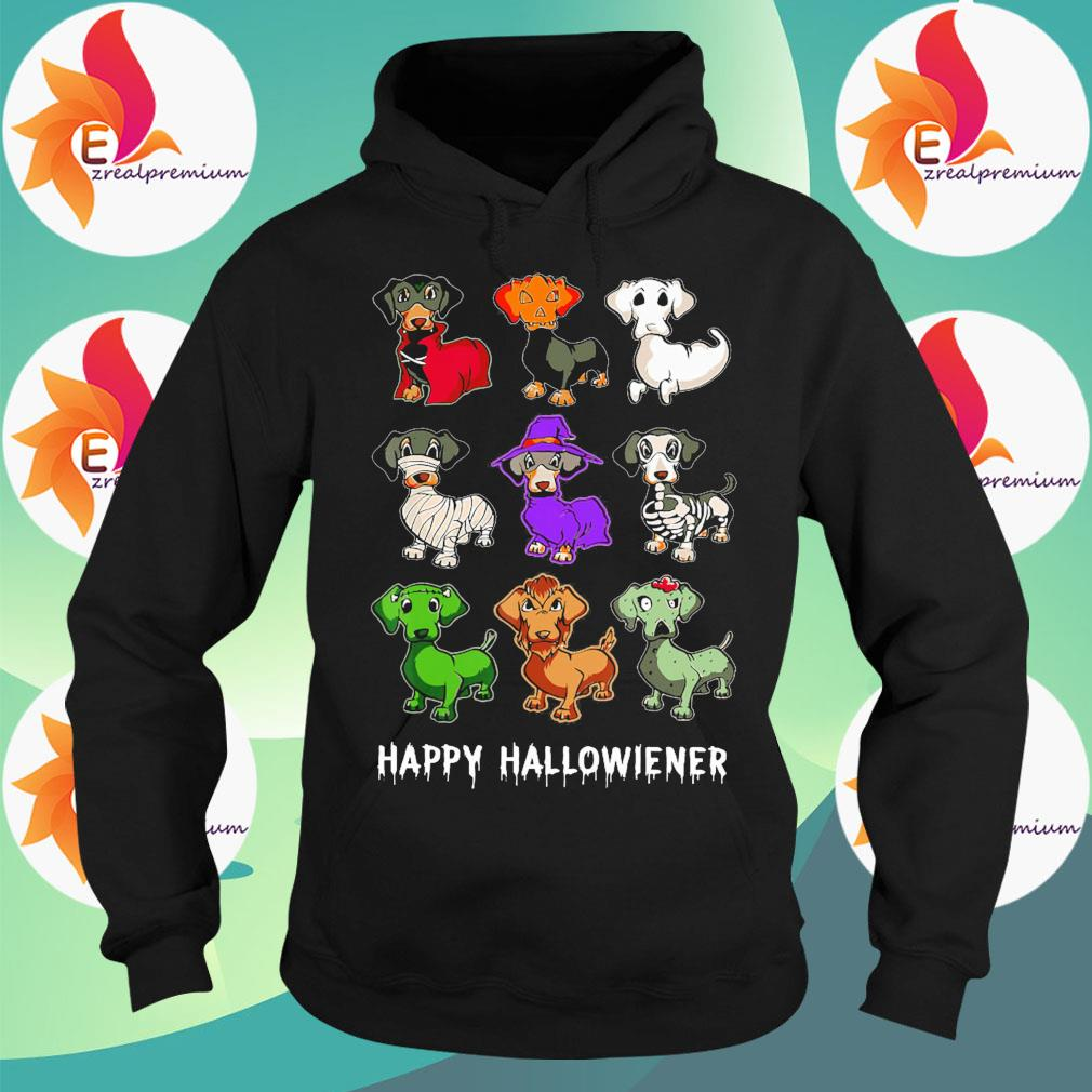 Dachshunds witch happy Halloweiner s Hoodie
