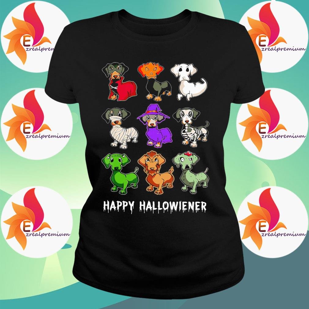 Dachshunds witch happy Halloweiner s Ladytee