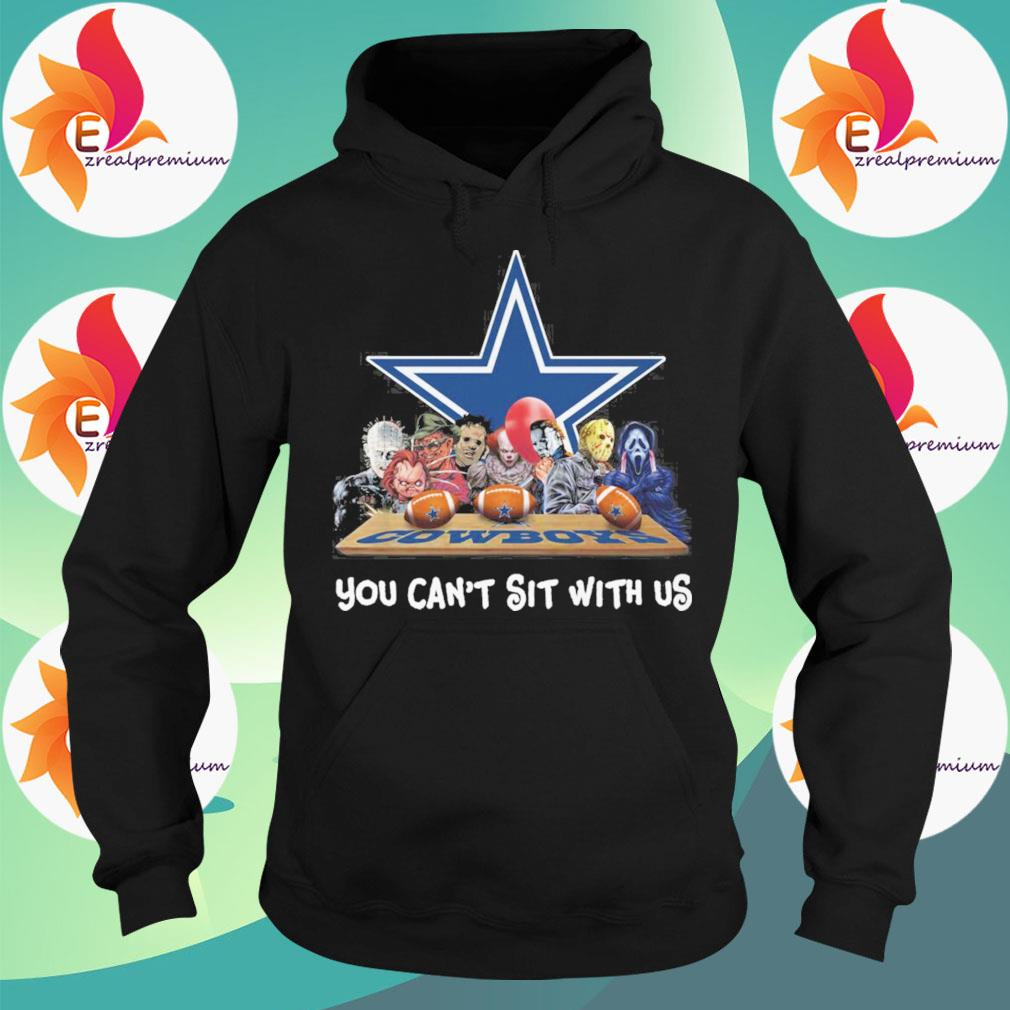 Dallas Cowboys horror movie characters You can't sit with us s Hoodie