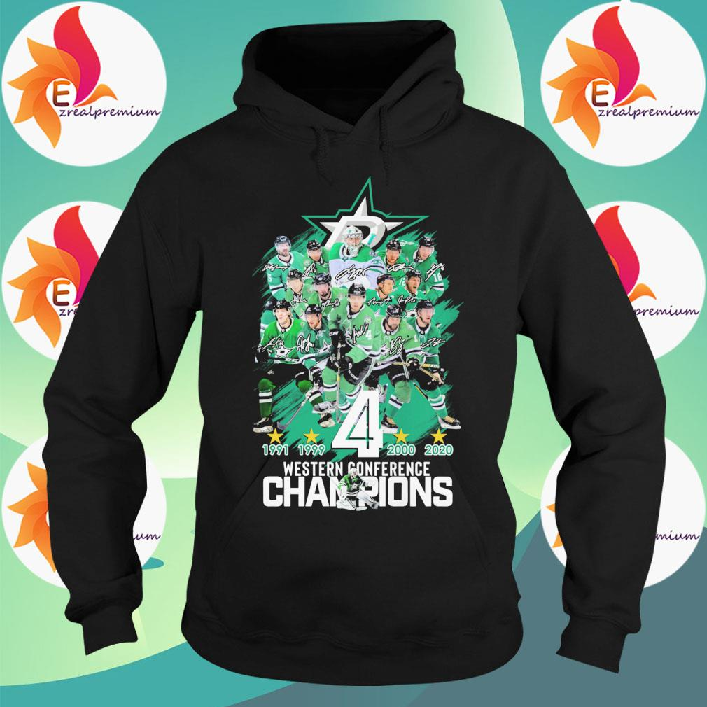 Dallas Stars 1991 1999 4 2000 2020 western conference Champions s Hoodie