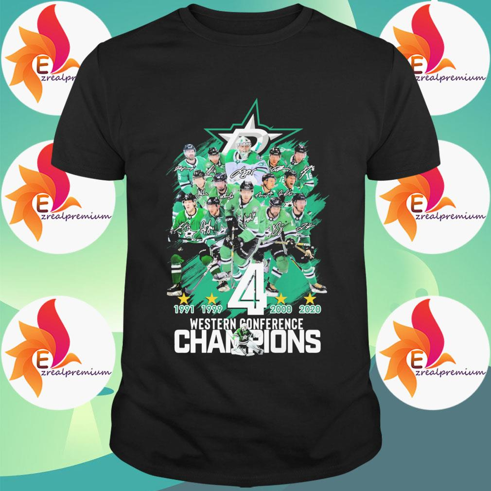 Dallas Stars 1991 1999 4 2000 2020 western conference Champions shirt
