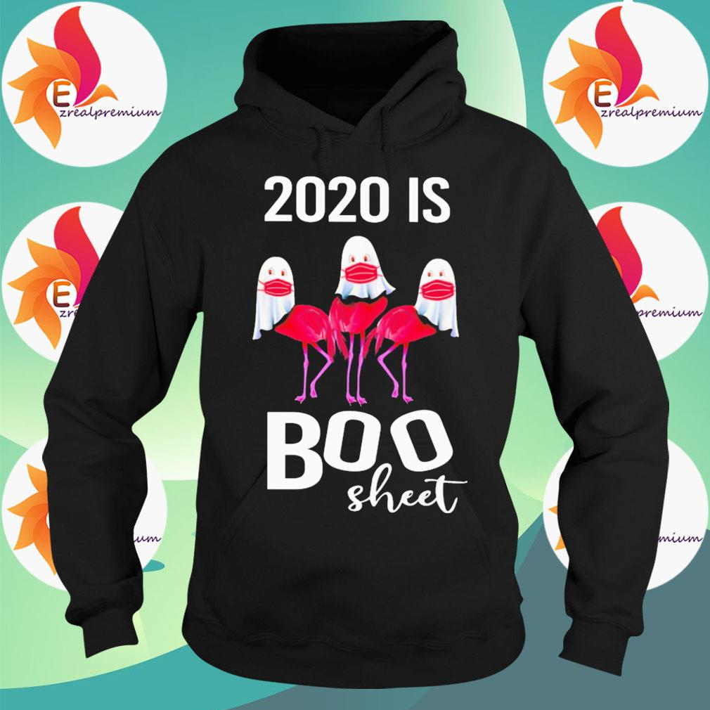 Ghost Flamingo face mask 2020 is Boo sheet Halloween s Hoodie