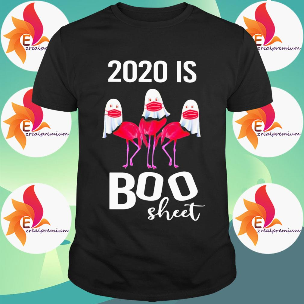 Ghost Flamingo face mask 2020 is Boo sheet Halloween shirt