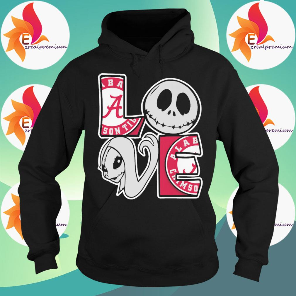Jack Skellington and Sally love Alabama Crimson Tide s Hoodie
