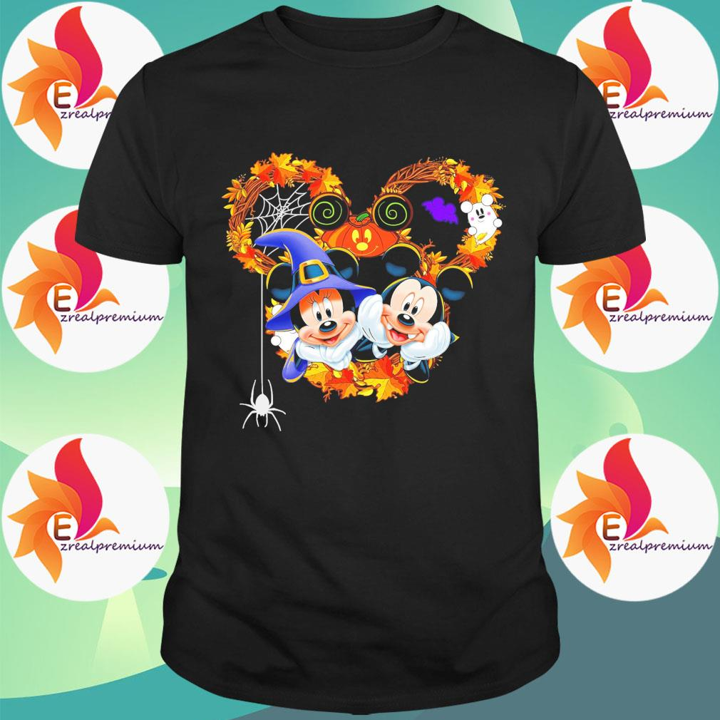 Mickey and Minnie mouse happy Halloween shirt