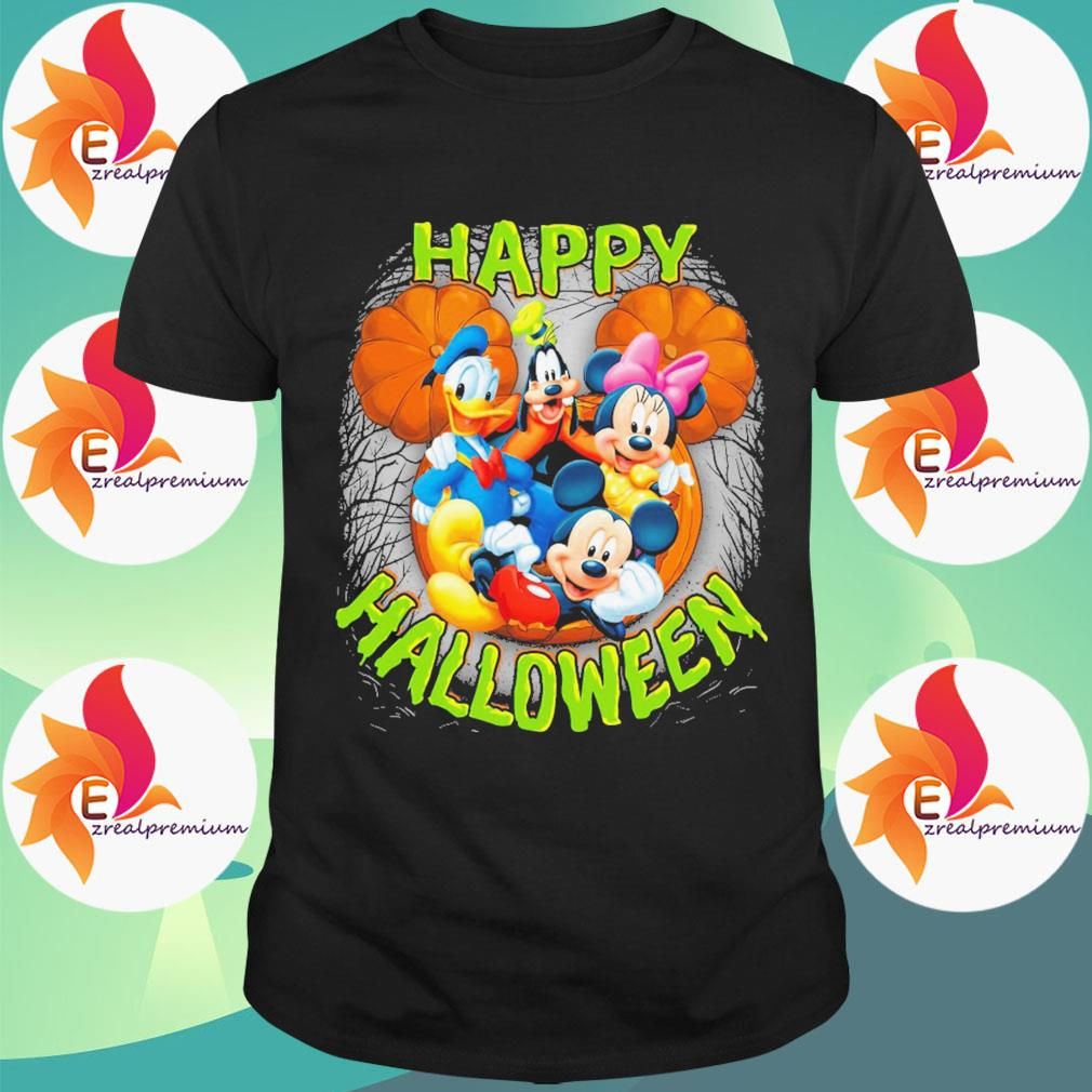 Mickey mouse and Friends pumpkin happy Halloween shirt