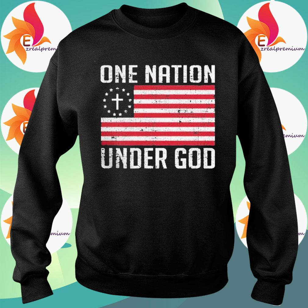 One Nation under god American flag s Sweatshirt