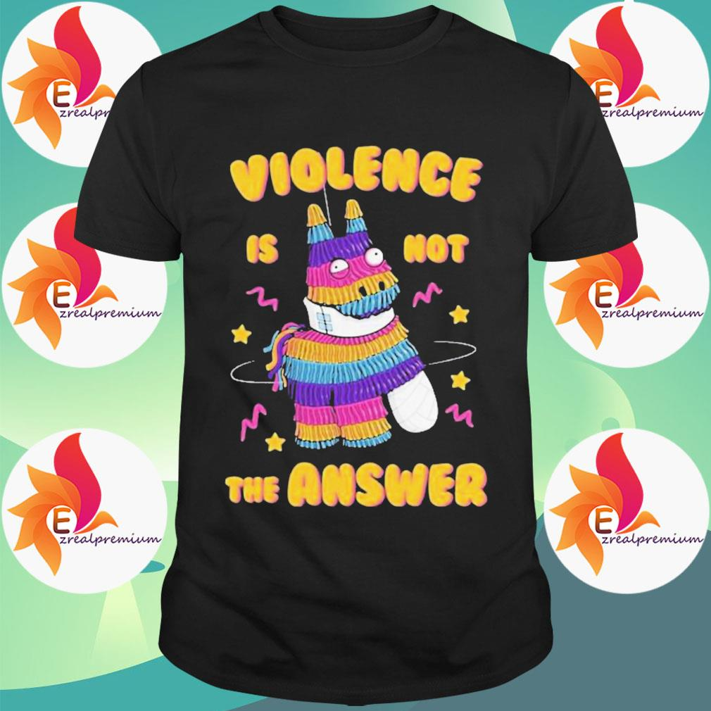 Painata Violence Is Not The Answer Shirt