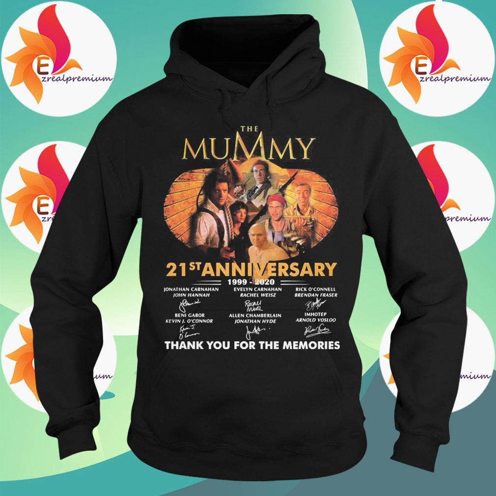 The Mummy 21st anniversary 1999 2020 thank you for the memories signatures s Hoodie