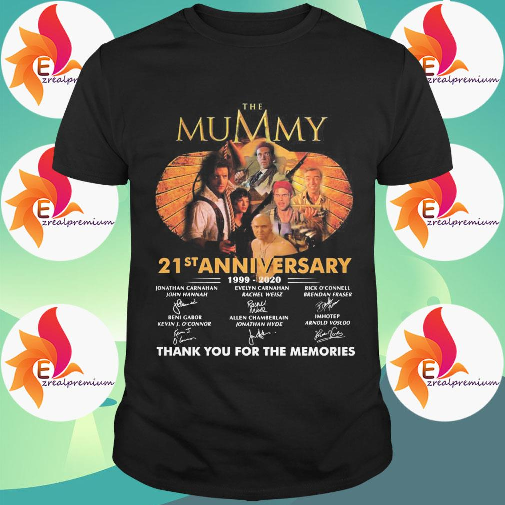 The Mummy 21st anniversary 1999 2020 thank you for the memories signatures shirt