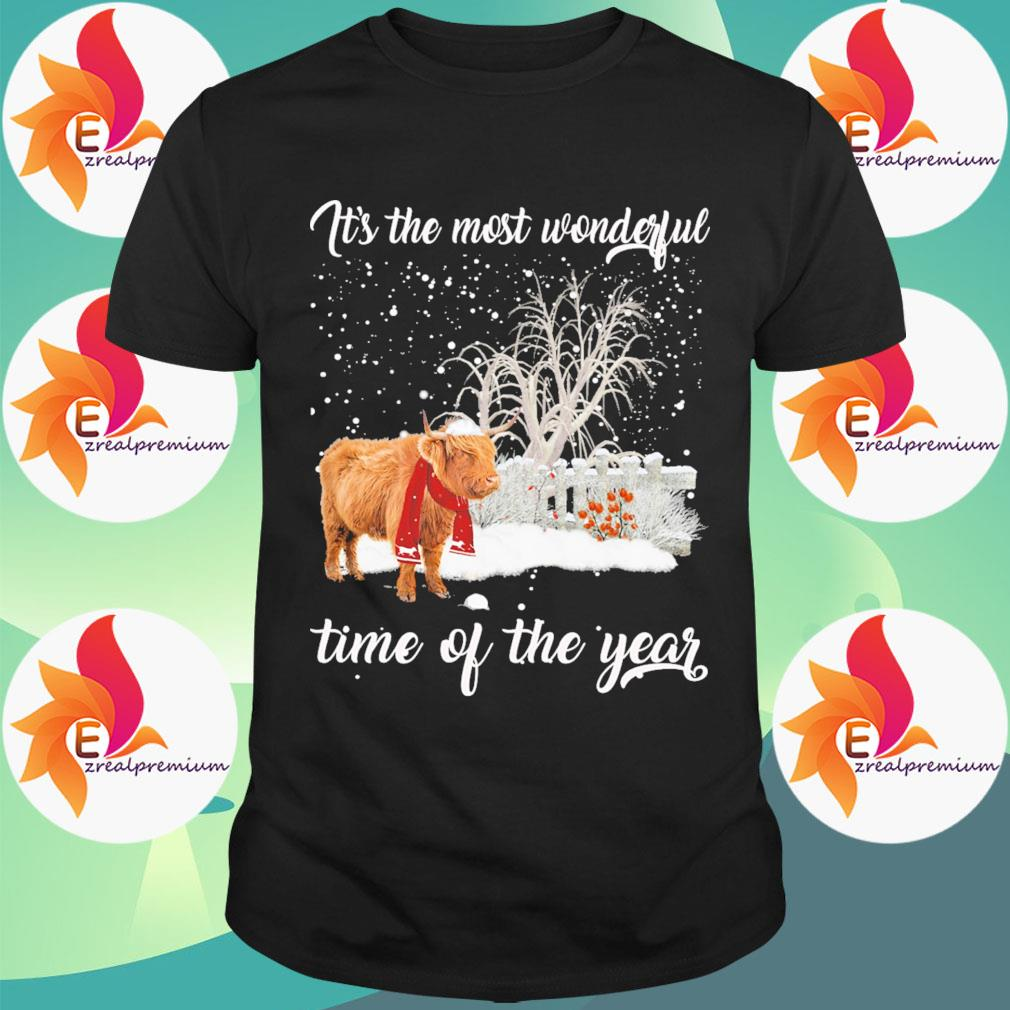 Yak Merry Christmas It's the most wonderful time of the year shirt