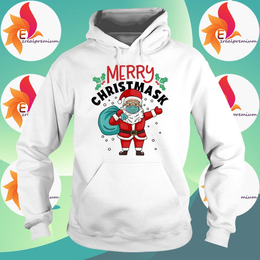 Santa Claus face mask Merry Christmas s Hoodie