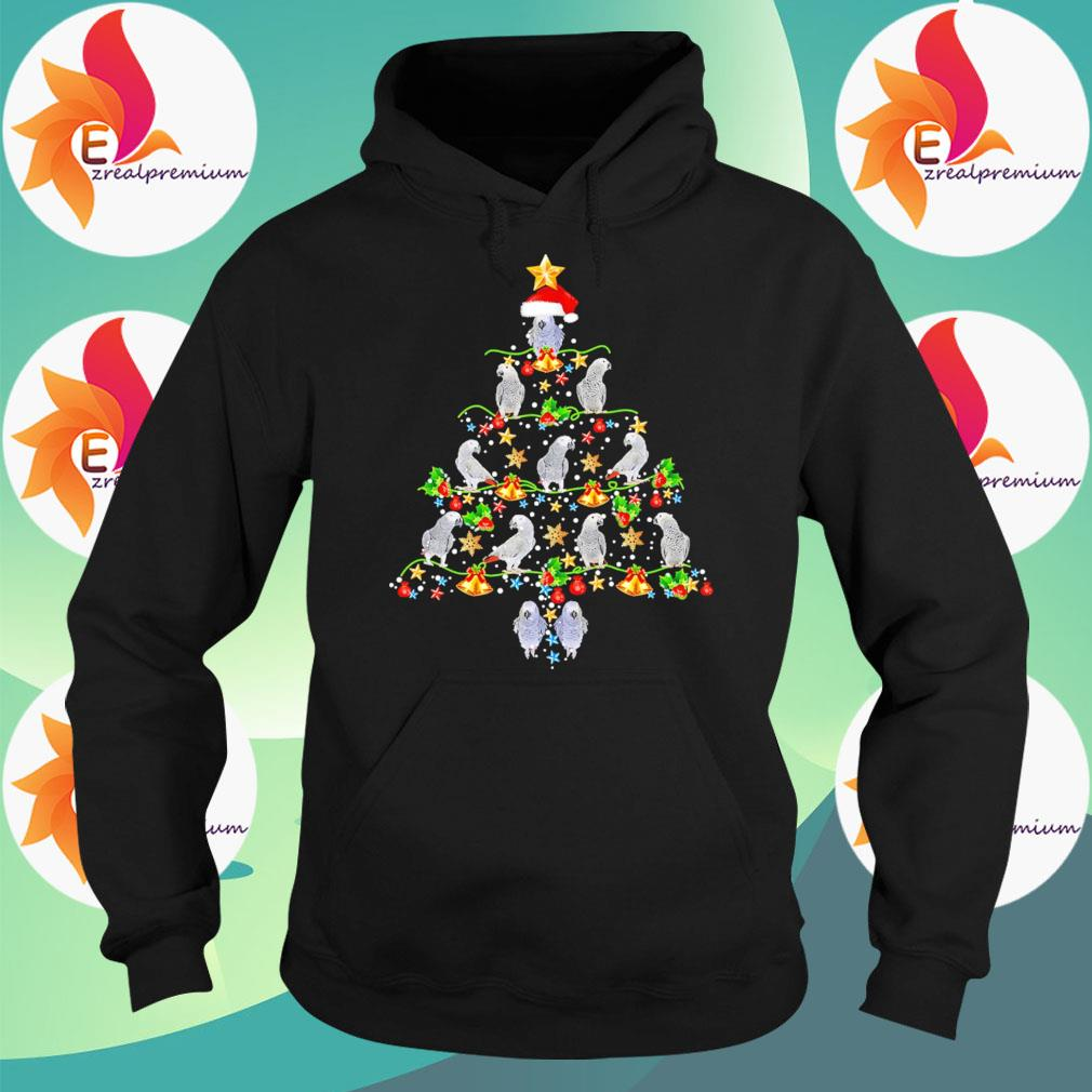Parrot Christmas Tree Ornament light sweats Hoodie