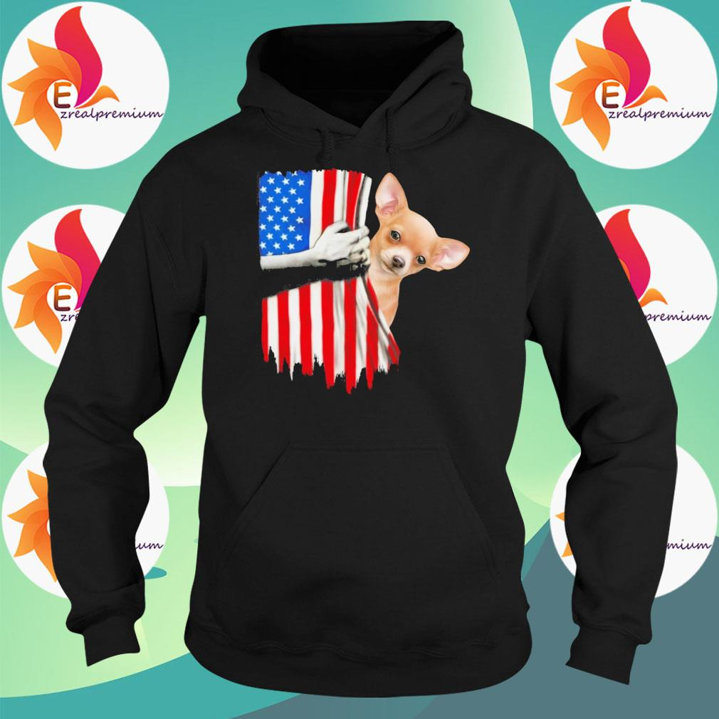 Strong Chihuahua American flag s Hoodie
